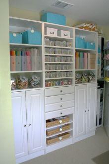 Scrapbook Craft Room Organization