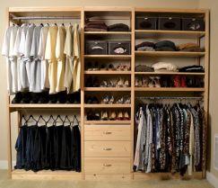Solid Wood Closet Organizer System