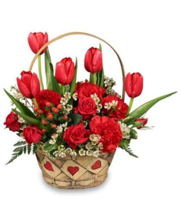 Sweet Love Arrangement Basket