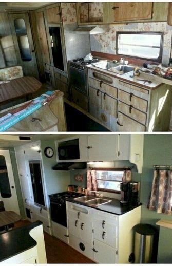 Vintage Camper Remodels Before and After