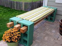 Cinder Block Outdoor Bench Ideas