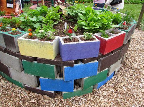 Cinder Block Raised Bed Garden