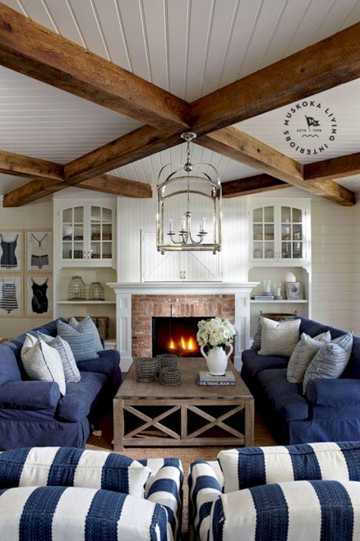Coastal Blue Living Room Decor
