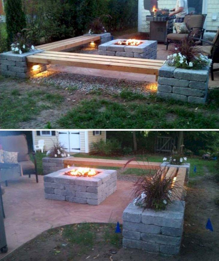 DIY Back Yard Cinder Block Bench
