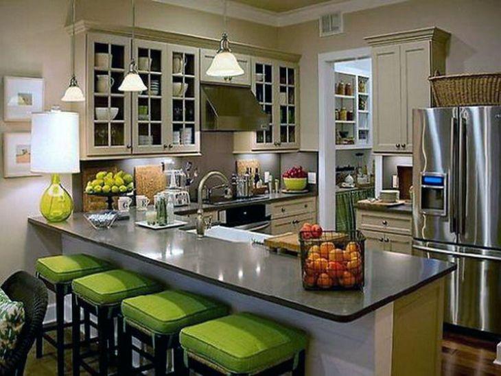Green Kitchen Stools