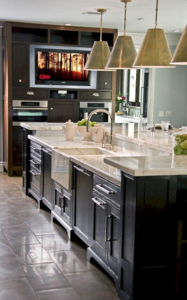 Kitchen Island with 2 Sinks