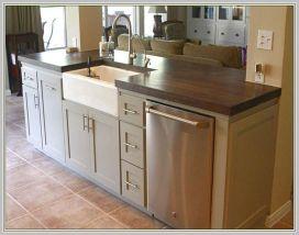 Kitchen Island with Sink Dishwasher