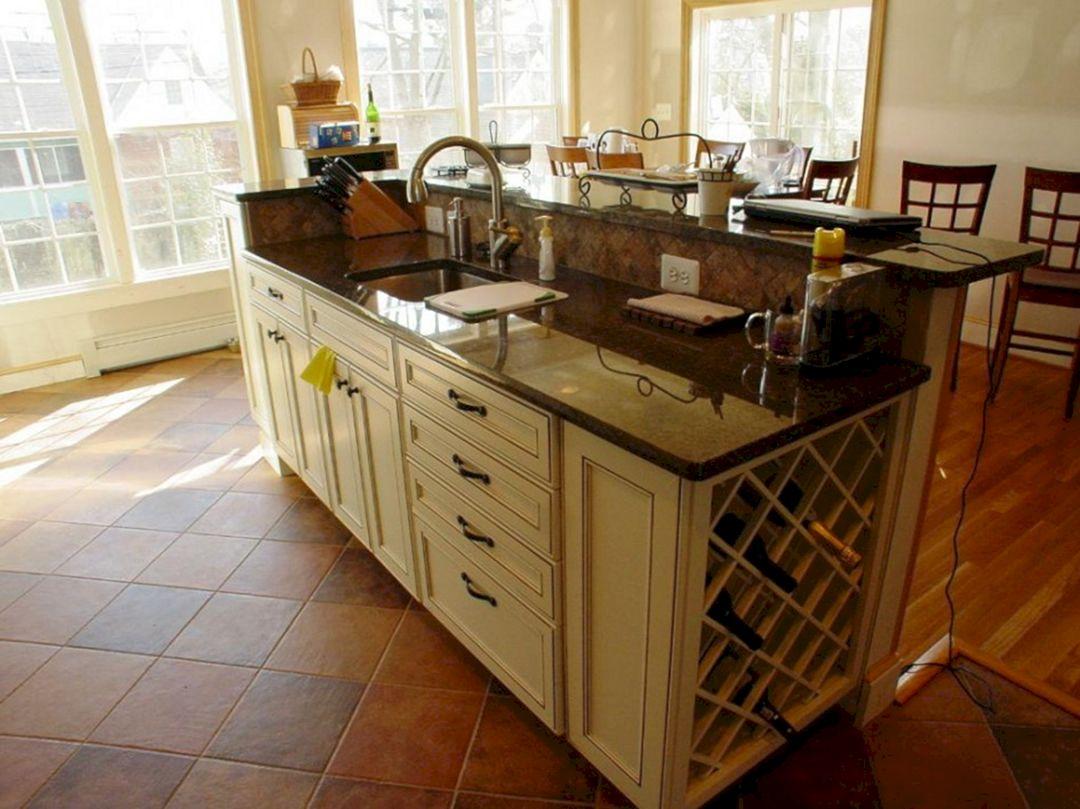 Kitchen Island with Sink Idea
