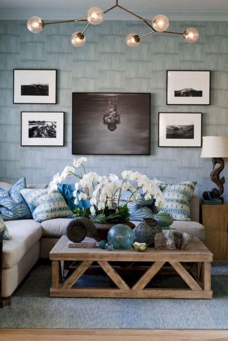 25+ Unique Rustic Coastal Nautical Living Room Ideas For Amazing ...