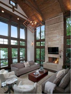 Modern Rustic Living Room Design Idea