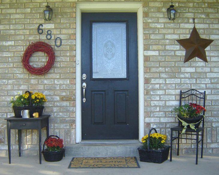 Small Front Porch Decorating Idea