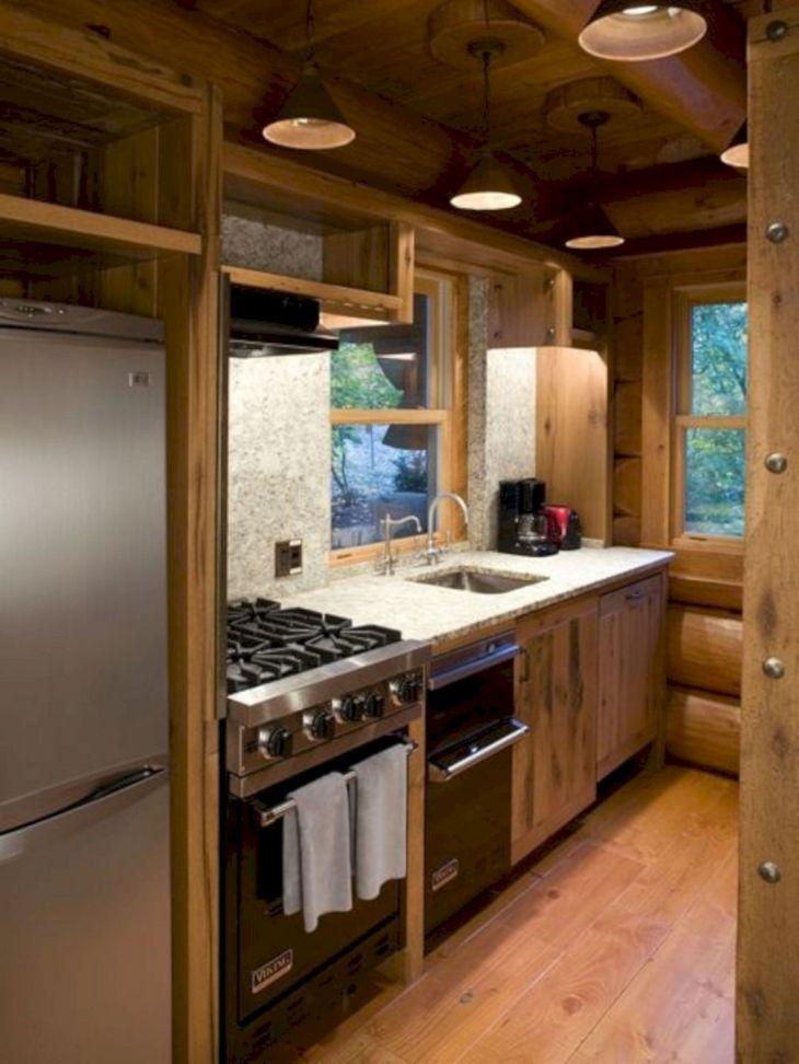 Small Log Cabin Kitchen Designs