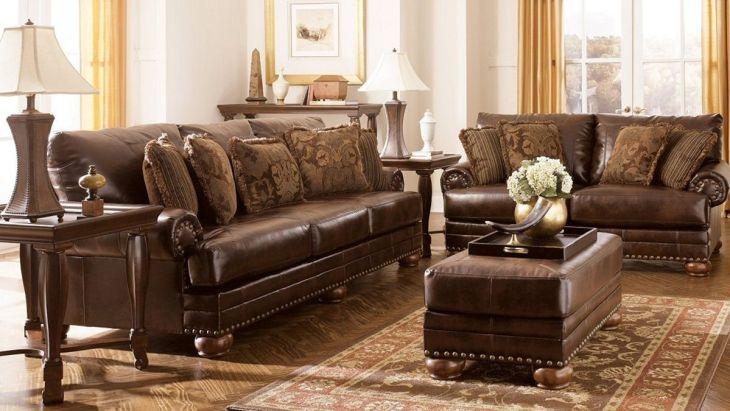 Ashley Leather Living Room Furniture