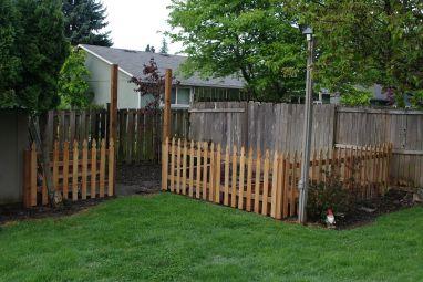 Back Yard Garden Fence