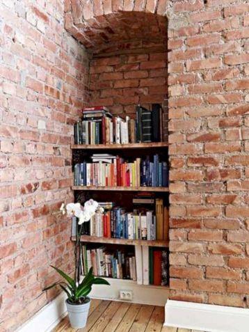 Brick Wall Book Shelves