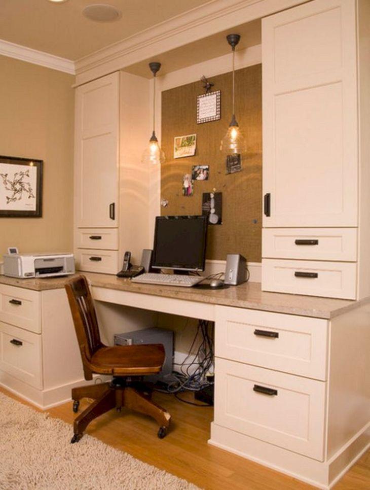 Built in Desk Home Office Ideas