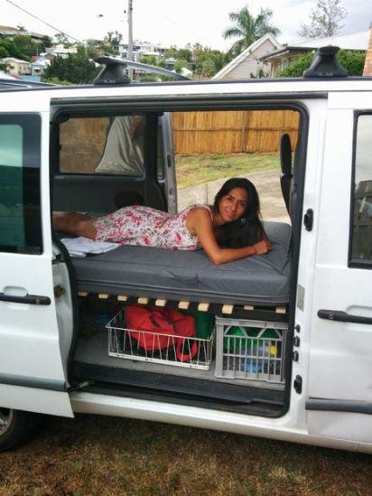 Collapsible Camper Van Bed