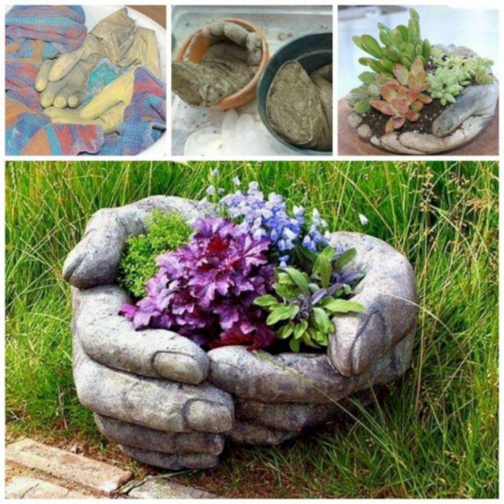 DIY Concrete Garden Ideas
