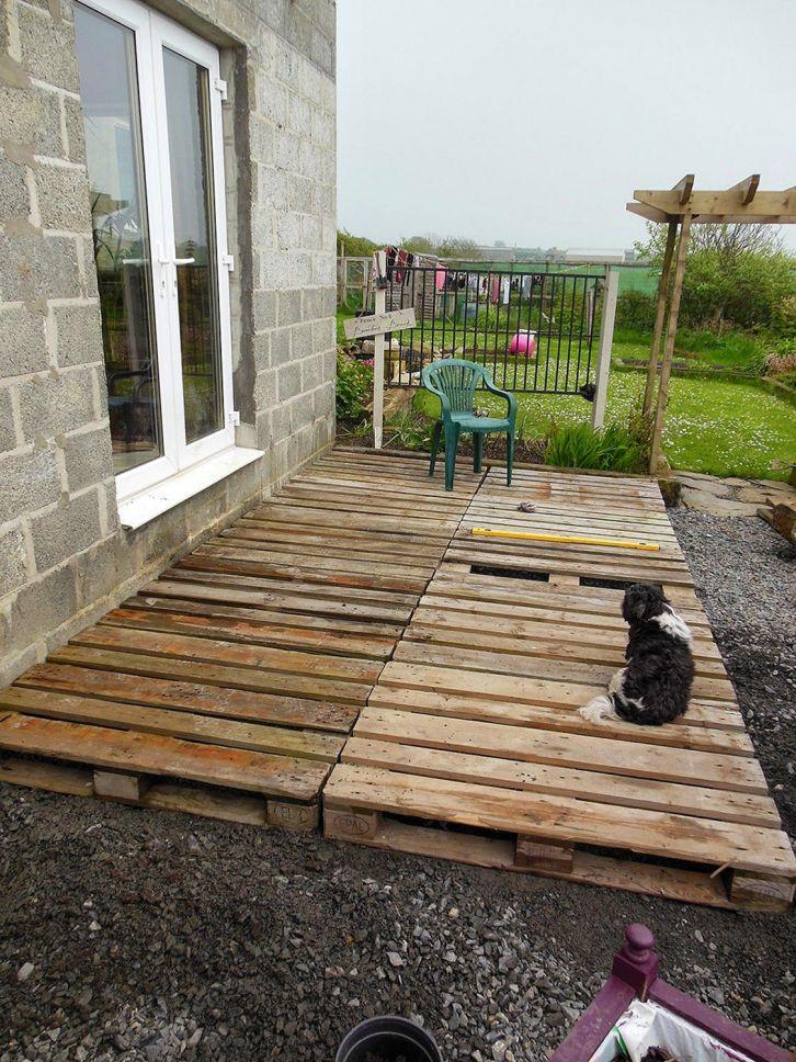 DIY Pallet Deck Idea