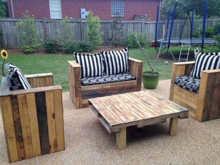 diy patio pallet furniture plans - Patio On A Pallet