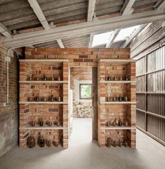 Dressing Room Brick Wall