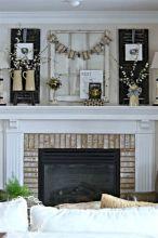 Farmhouse Fireplace Mantel Decor Ideas