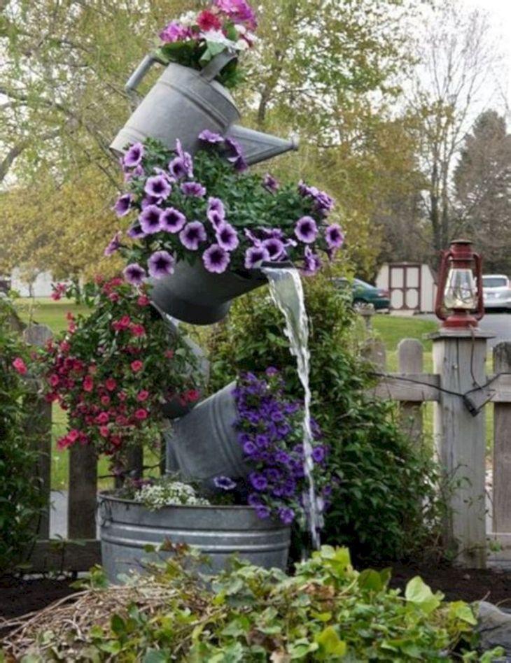 Galvanized Tipsy Pots