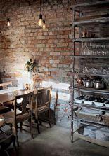 Industrial Brick Wall Dining