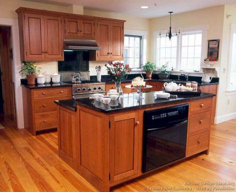 Shaker Cherry Wood Kitchen Cabinets