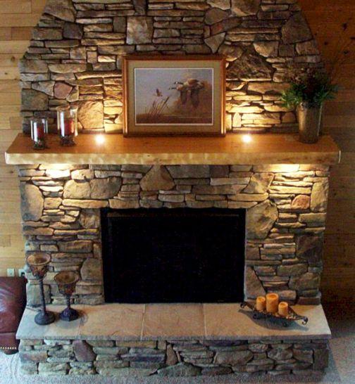 Stone Fireplace Mantels Ideas