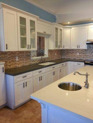 White Shaker Style Kitchen Cabinets