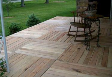 Wood Pallet Patio Deck