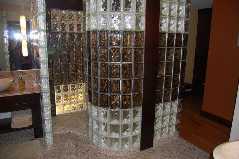 Bathroom Glass Block Shower Ideas 1
