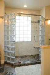 Bathroom Glass Block Shower Ideas 13