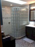 Bathroom Glass Block Shower Ideas 15
