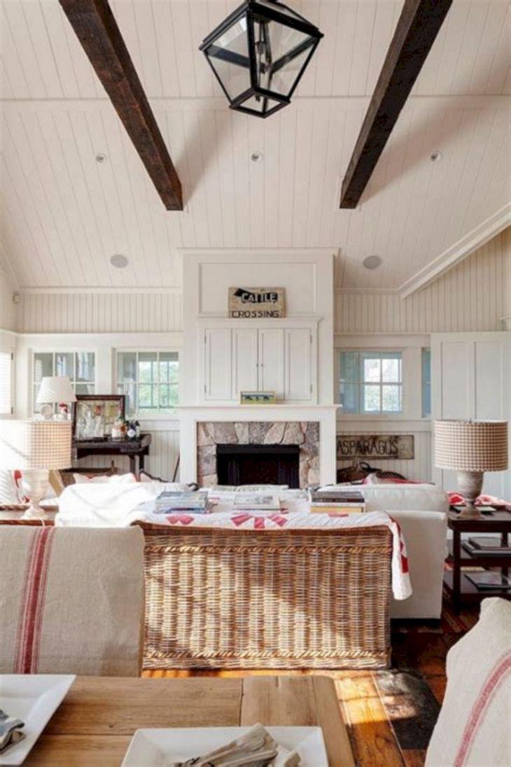 Farmhouse Living Room Fireplace 1