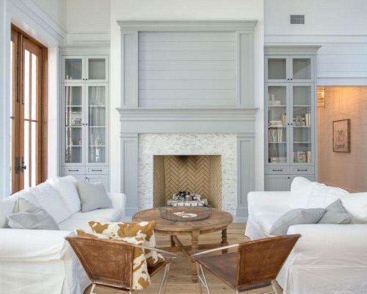 Farmhouse Living Room Fireplace 24