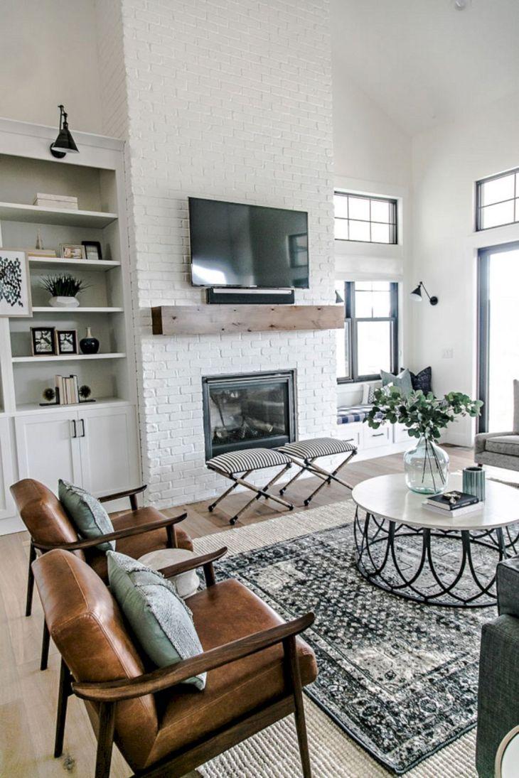 Farmhouse Living Room Fireplace 4