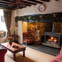 Farmhouse Living Room Fireplace 8