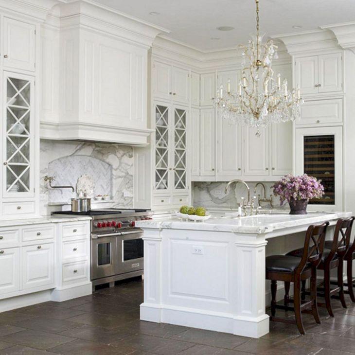 Classic White Kitchen Cabinets 19