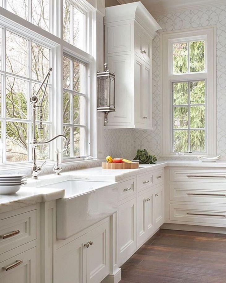 Classic White Kitchen Cabinets 20