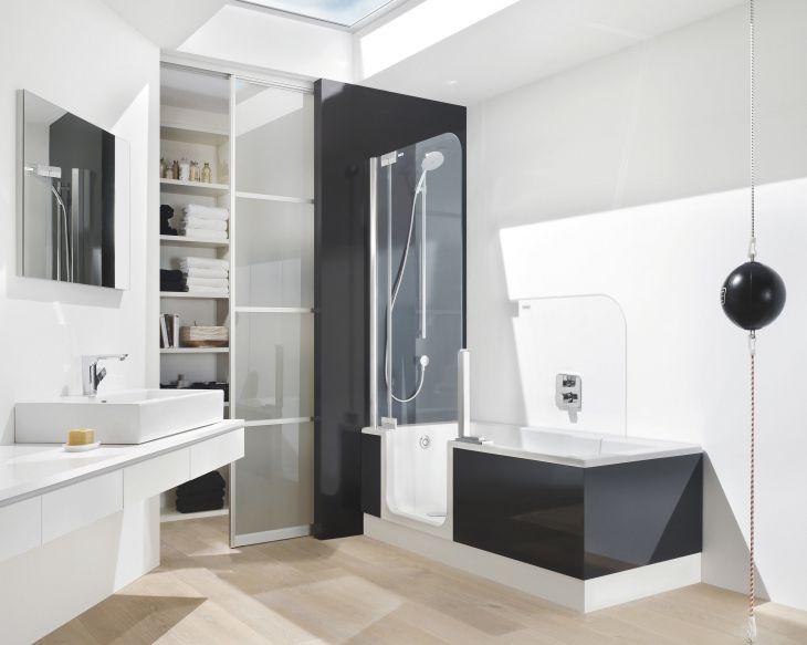 Modern Bath Shower Combination 1