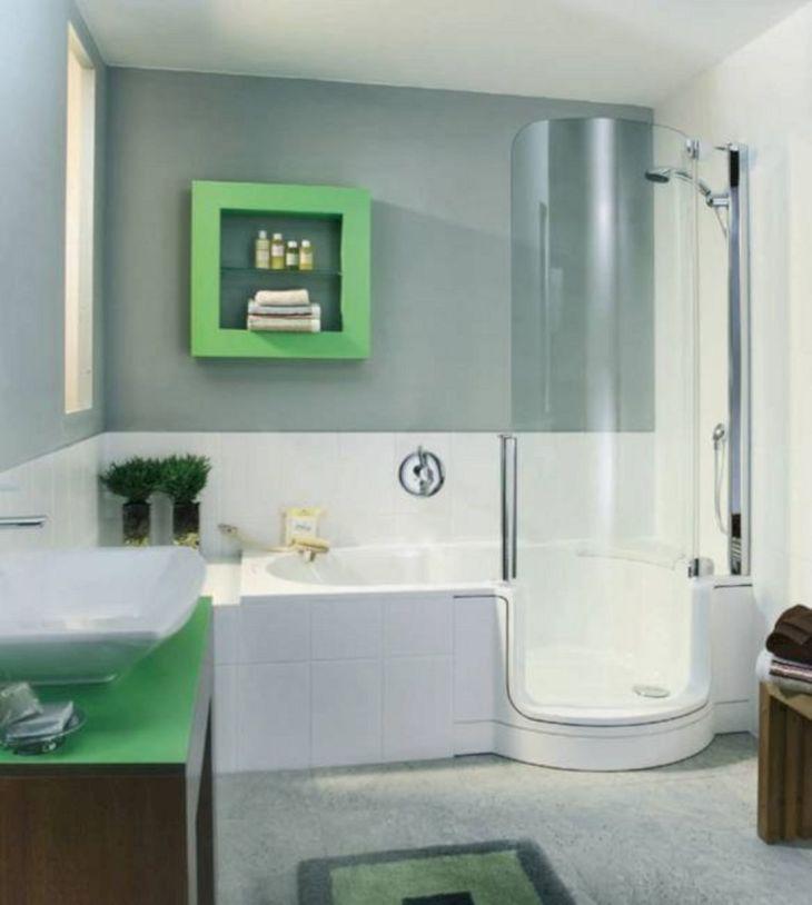 Modern Bath Shower Combination 17