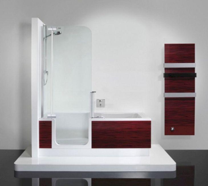 Modern Bath Shower Combination 9