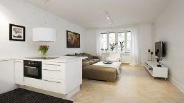 Small One Room Apartment Interior 12