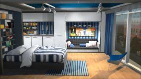 Small One Room Apartment Interior 15