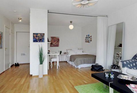 Small One Room Apartment Interior 17