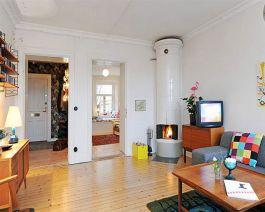 Small One Room Apartment Interior 19