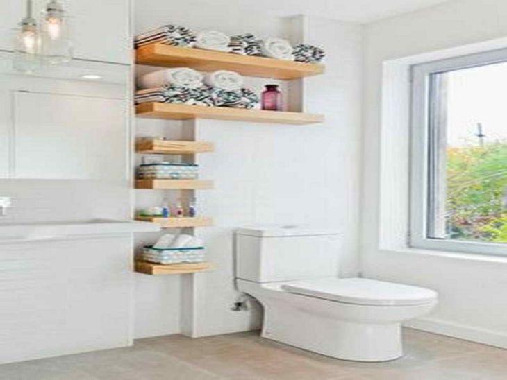 Creative Shelving Ideas for Small Bathrooms 14