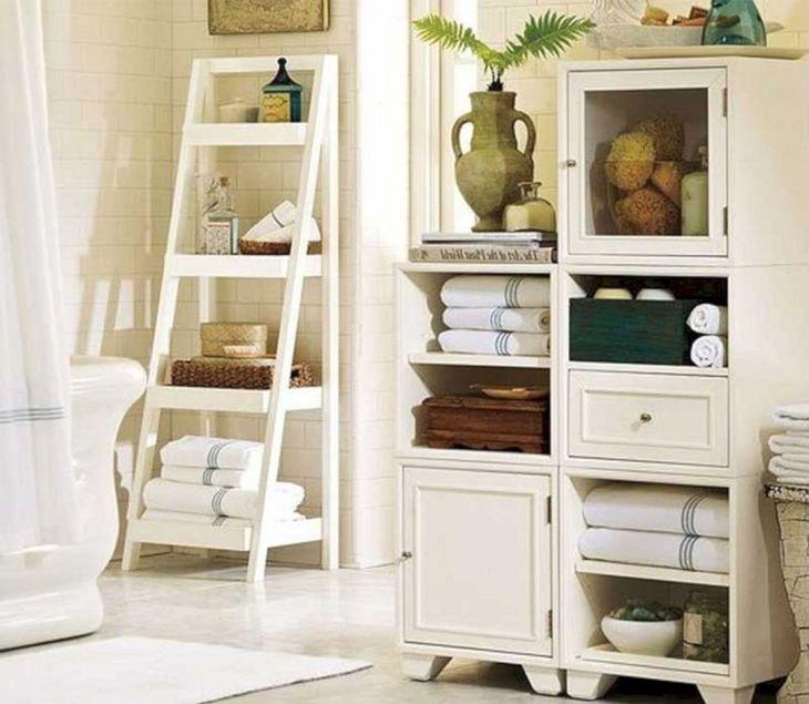 Creative Shelving Ideas for Small Bathrooms 19